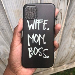 Wife Mom Boss Girl iPhone 11/11 Pro Phone Case